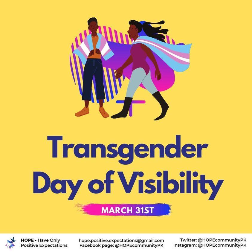 Transgender Day of Visibility 2021 – Part I